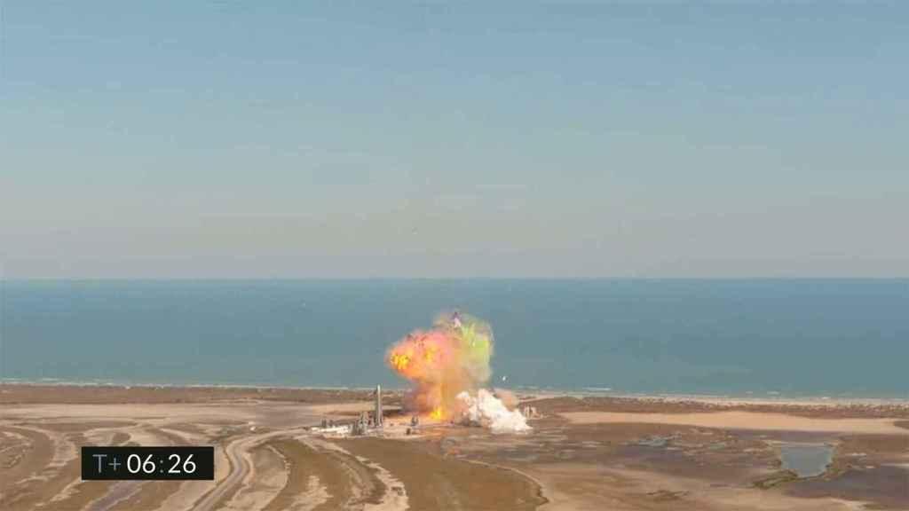 SN9 explotando.