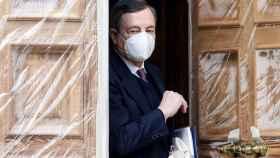 Mario Draghi, tras aceptar el encargo del presidente italiano.