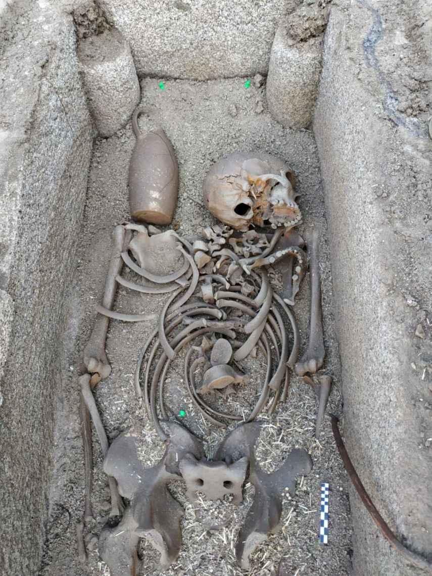 Una de las tumbas visigodas.