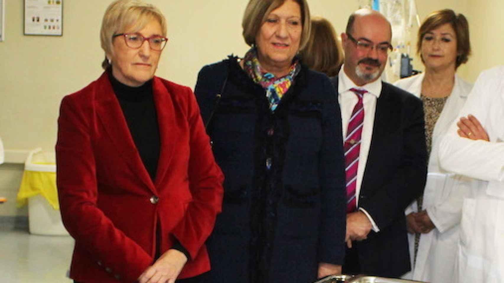 José Antonio García Gómez, en una imagen de cuando ejercía de comisionado de salud, junto a la consellera Ana Barceló.