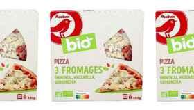 Imagen de la pizza marca Auchan retirada en Francia.