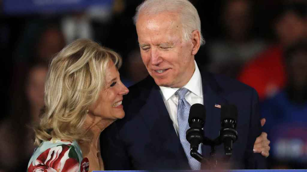 Joe y Jill Biden en plena campana electoral.