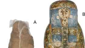 Una momia egipcia con un raro tratamiento mortuorio, un caparazón de barro.