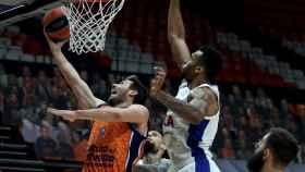 Un instante del partido entre el Valencia Basket y el CSKA de Moscú