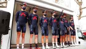 Formación del Team INEOS en la Étoile de Bessèges