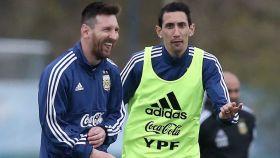 Messi y Di María, con la selección de Argentina