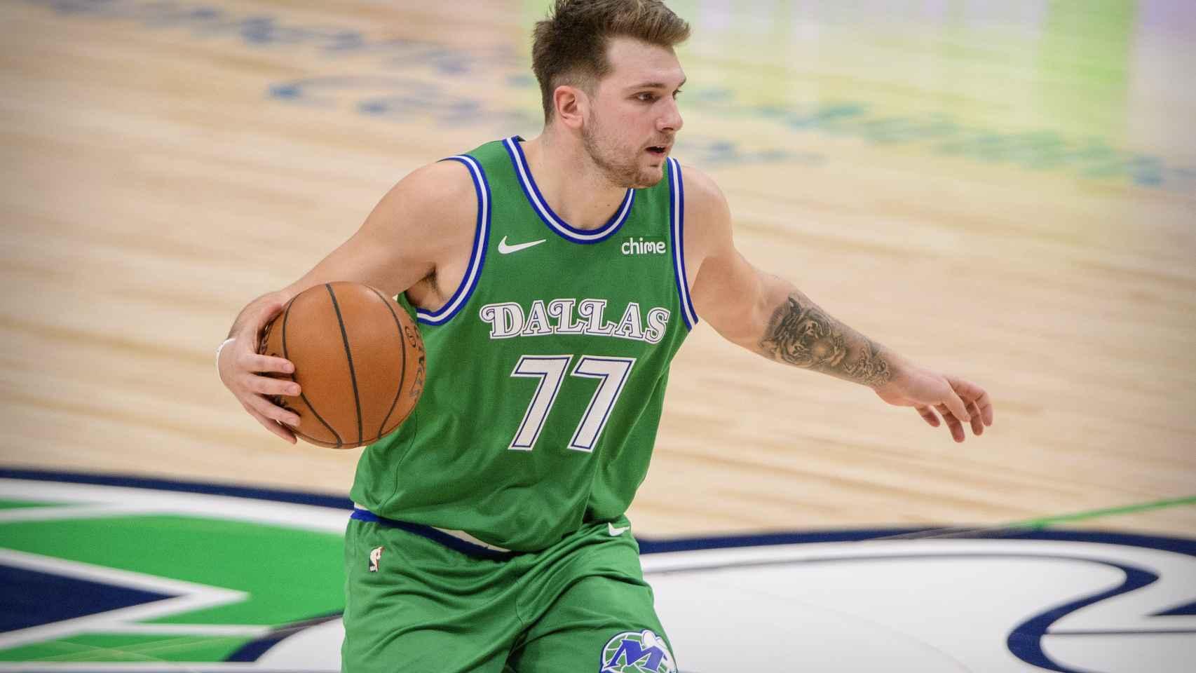 Luka Doncic, durante un partido con los Dallas Mavericks