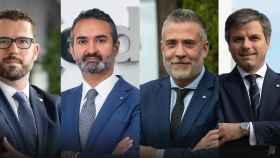 Los cuatro nuevos responsables de zona de Banco Mediolanum.