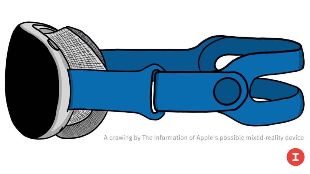 Posible diseño de las gafas de realidad mixta de Apple