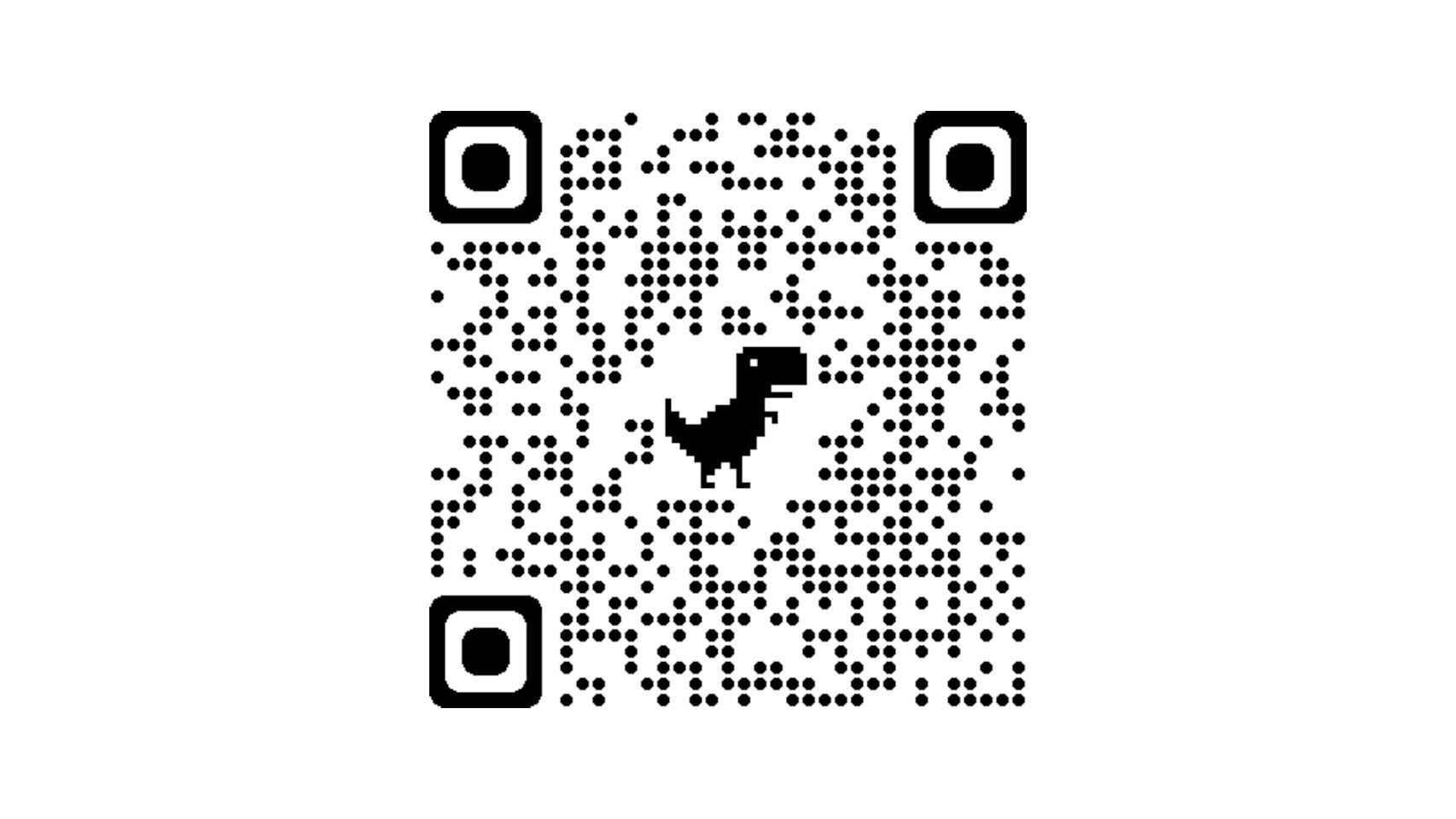 Código QR con el dinosaurio de Chrome generado con el navegador