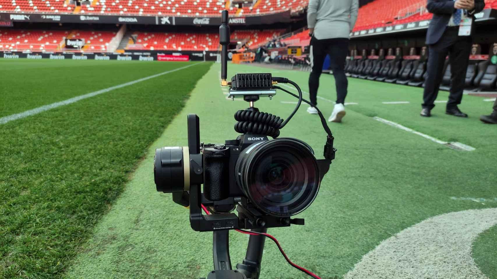 La cámara de Sony que ahora usan en LaLiga.