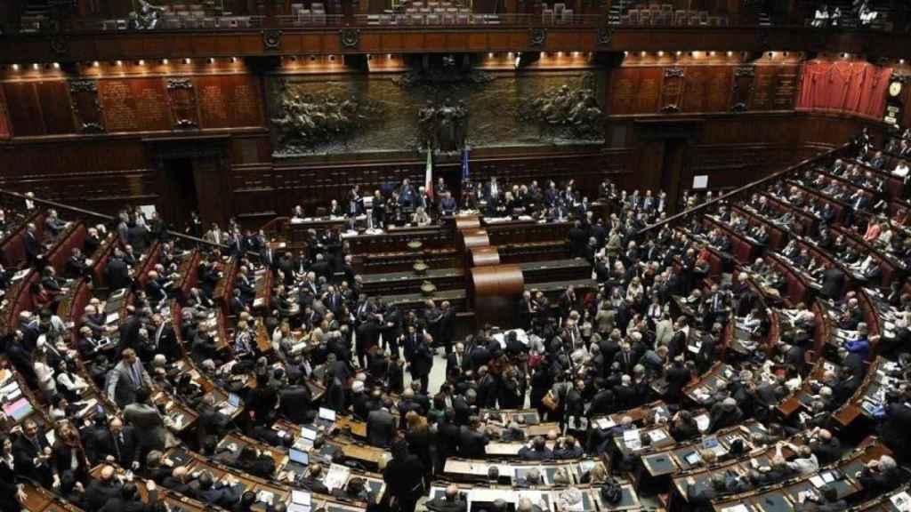 La Cámara de Diputados del Parlamento italiano.