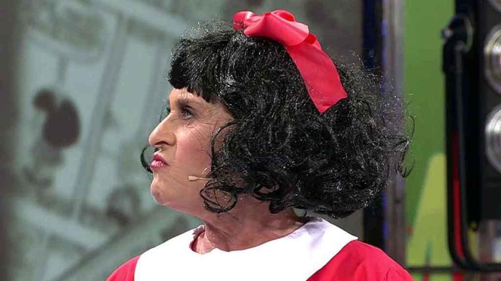 Chelo García-Cortes disfrazada de Mafalda