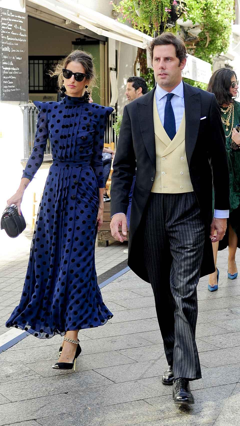 Domecq junto a su marido en una boda en 2017.