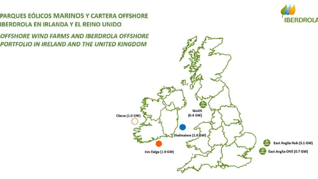 Cartera offshore de Iberdrola en Irlanda e Inglaterra