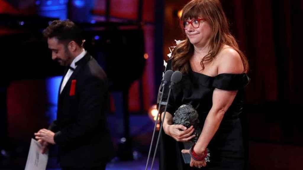 Coixet con su Goya a la Mejor dirección en 2018.