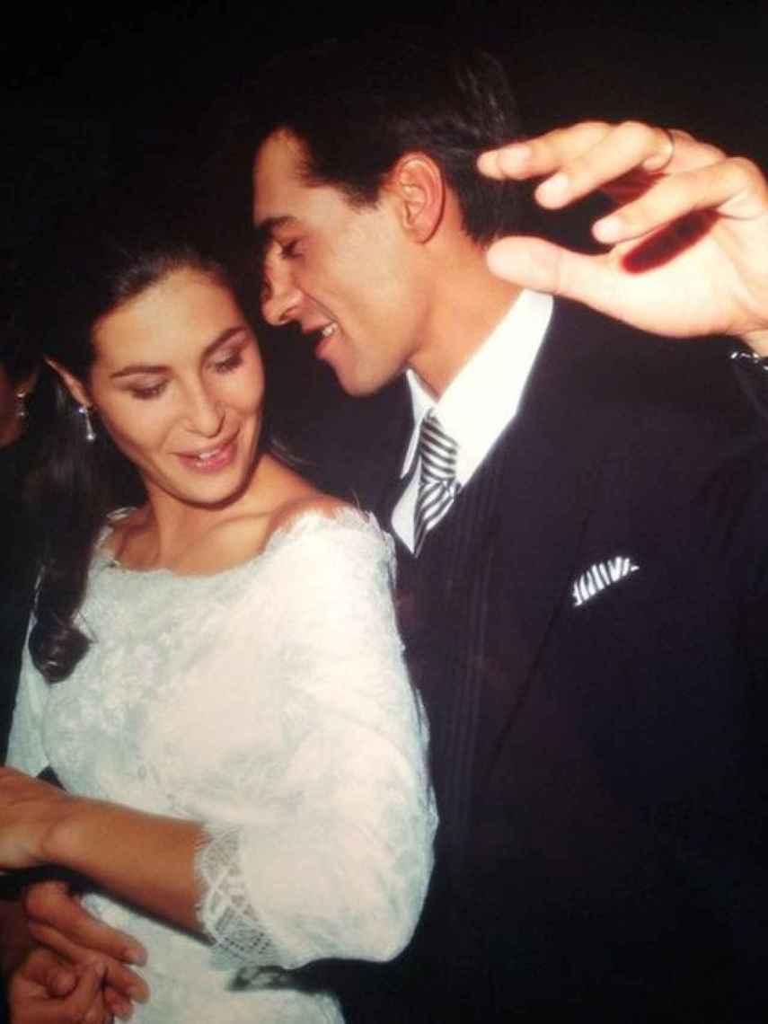 Nuria y Juan del Val, en el día de su boda.