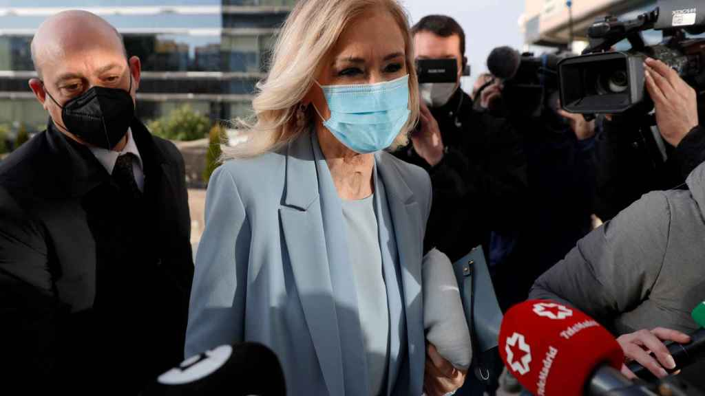 La expresidenta madrileña Cristina Cifuentes a su llegada a la Audiencia Provincial de Madrid este viernes.