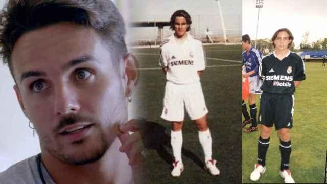 Manuel, de 'La Isla de las Tentaciones' y un montaje con sus fotografías de su paso por el Real Madrid