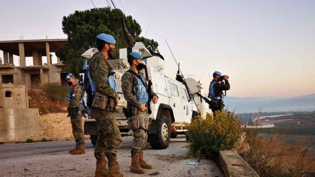 Soldados del Ejército de Tierra en El Líbano.