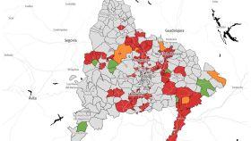 Madrid de las zonas restringidas en la Comunidad de Madrid desde el lunes 8 de febrero. Europa Press