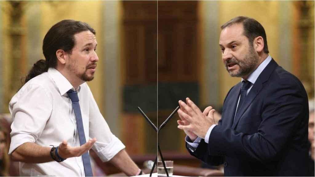 El vicepresidente segundo y ministro de Derechos Sociales y Agenda 2030, Pablo Iglesias, y el ministro de Transportes, Movilidad y Agenda Urbana, José Luis Ábalos.