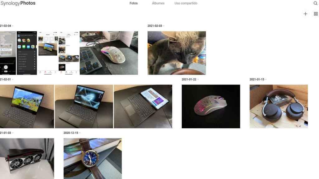Desde la página web de Synology Photos podemos acceder a fotos desde el PC