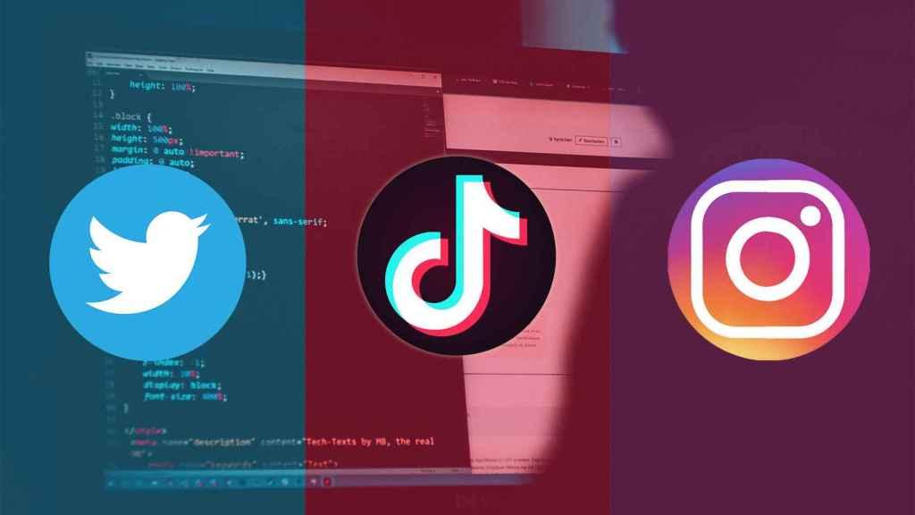 Instagram, Twitter y TikTok.