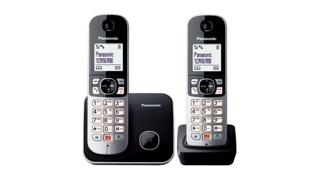 Uno de los modelos de teléfono doméstico de Panasonic.