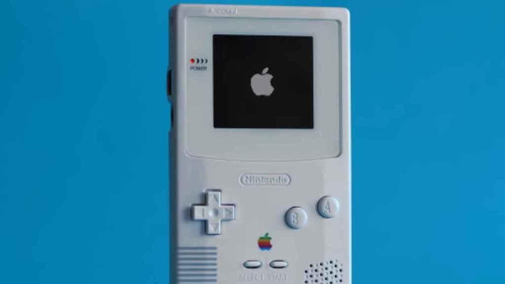 Una GameBoy con detalles de Apple para controlar el Apple TV.