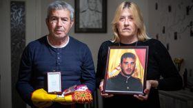 Antonio y Angelines, padres del militar fallecido en misión Antonio Carrero Jiménez.