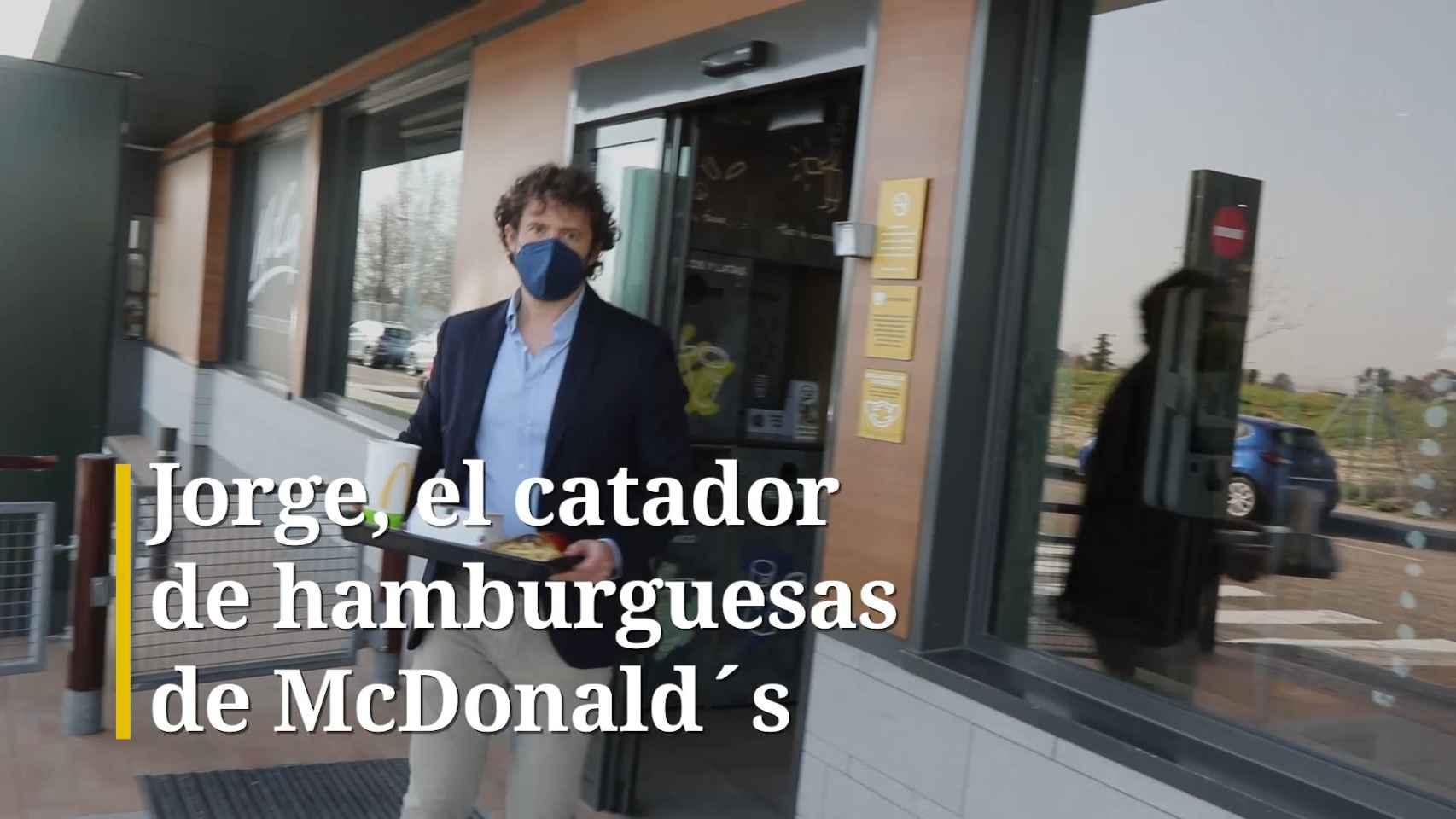 Jorge, el 'catador' de hamburguesas de McDonald's.