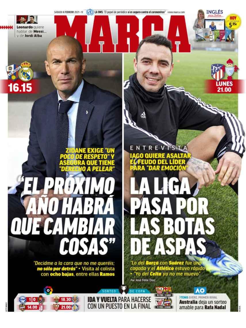 La portada del diario MARCA (06/02/2021)