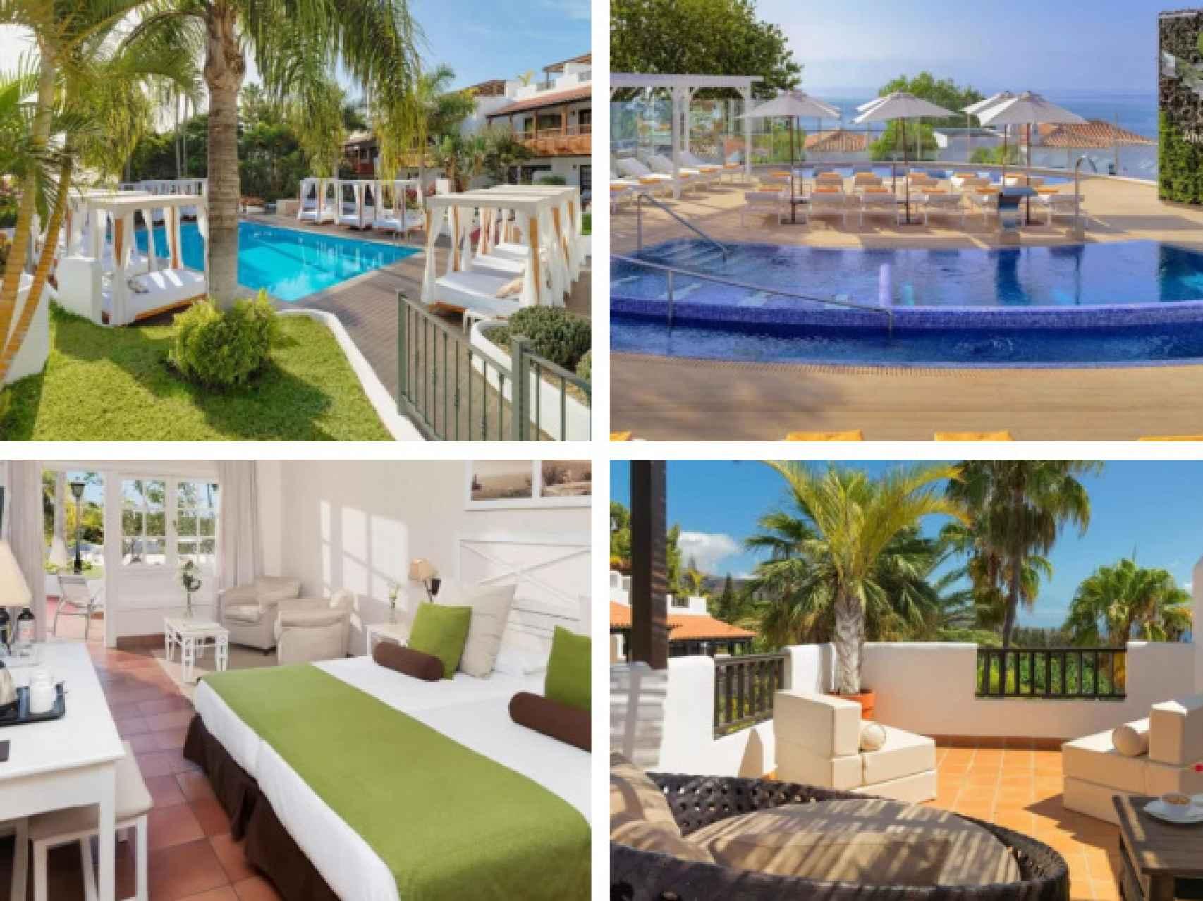 Algunas de las lujosas instalaciones del Hotel Jardín Tecina, en La Gomera.