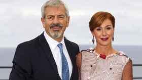 Carlos Sobera y su mujer, Patricia Santamaría.