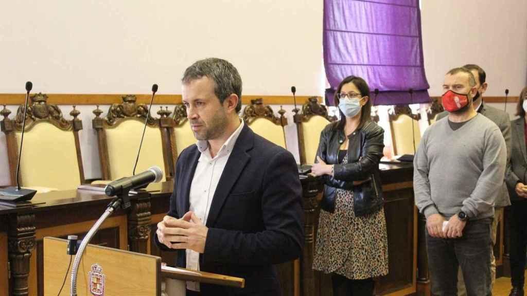 Julio Millán, alcalde de Jaén, el día  del anuncio de la concesión del Colce a Córdoba.