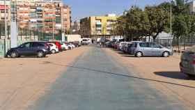 Coches cubiertos de polvo en Alicante.