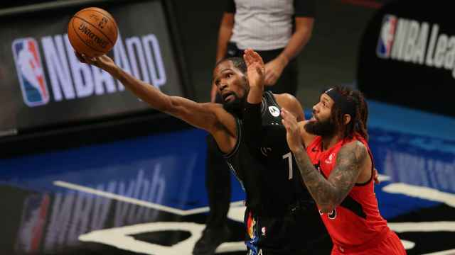 Kevin Durant, contra los Toronto Raptors