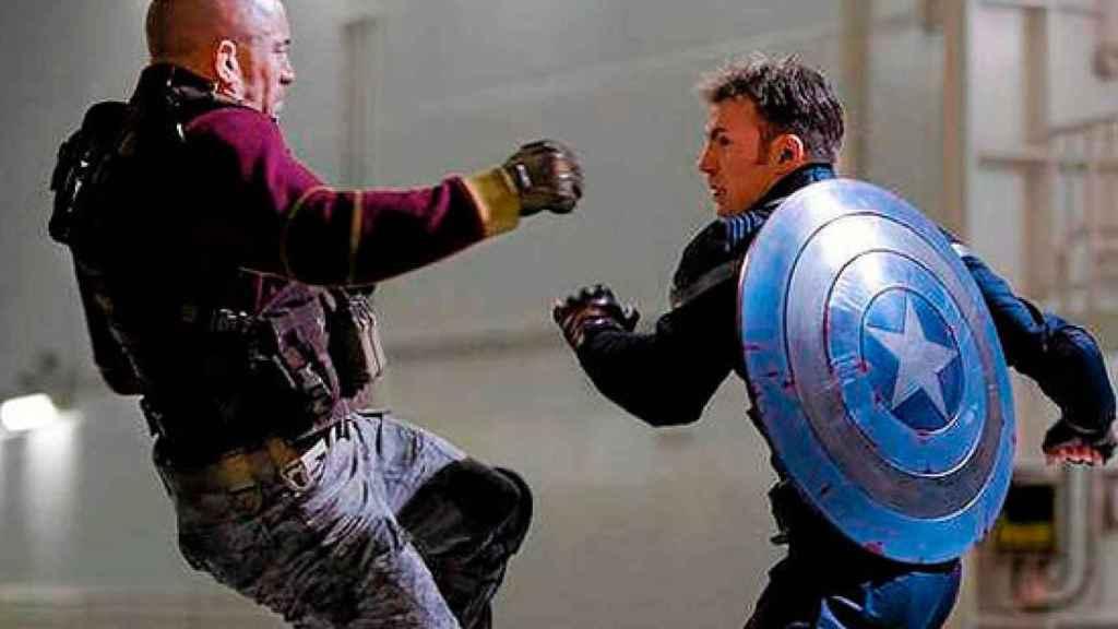 Georges St-Pierre, en una imagen de 'Capitán América: Soldado de Invierno'