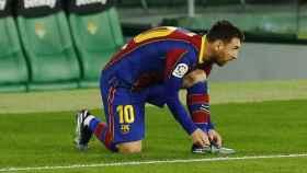 Leo Messi se prepara para la batalla y para salir al rescate del Barça