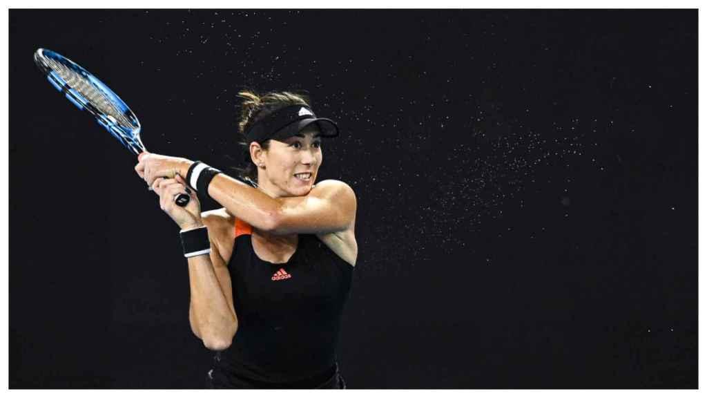 Garbiñe Muguruza, en el Open de Australia