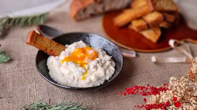 Timbal de jamón y huevo