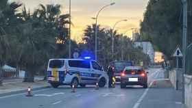 Uno de los controles de la Policía Local de Alicante durante el fin de semana.