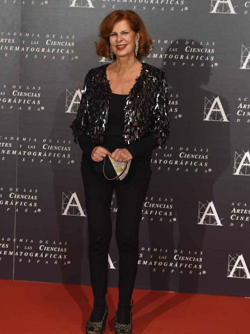 La politico Carmen Alborch en la Gala de entrega de las Medallas de Oro 2015 de la Academia de cine Español en Madrid.