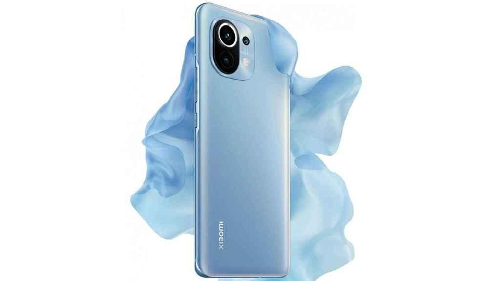 Xiaomi Mi 11 en azul.