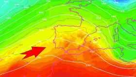 Las altas presiones posicionándose sobre la Península a partir del jueves. AEMET/SINOBAS.