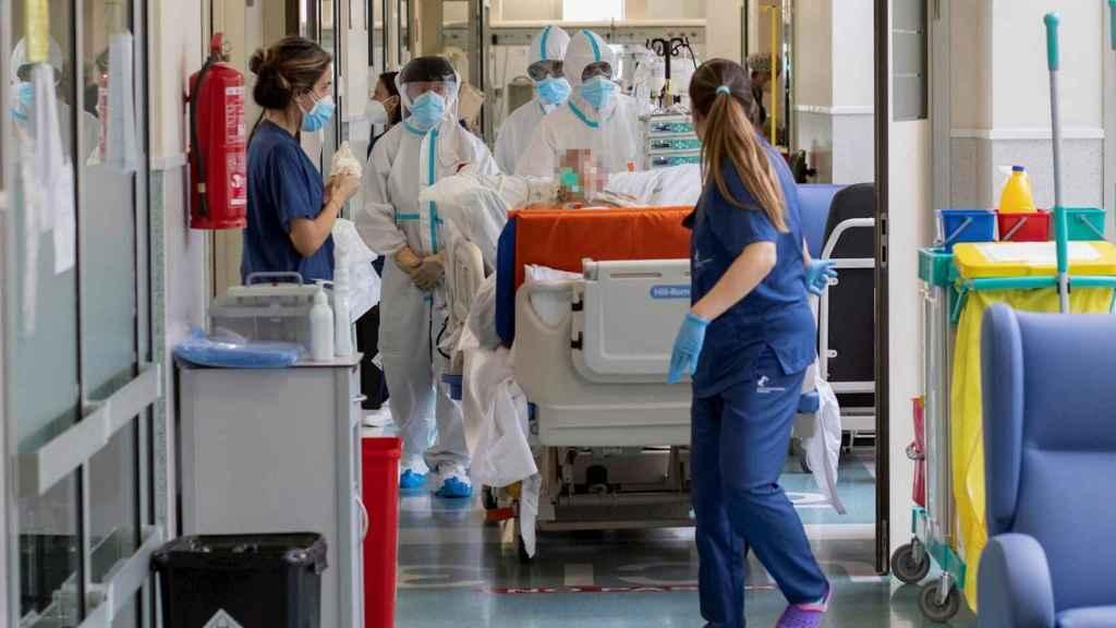 Hospital Santa Lucía de Cartagena, ejemplo de duplicación de camas UCI. EFE/Marcial Guillén.