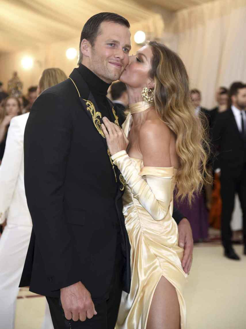 Tom Brady and Gisele Bündchen, during the 2018 Met Gala.