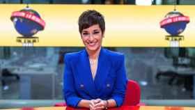 Adela González en una imagen en el plató de 'La Redacción'.