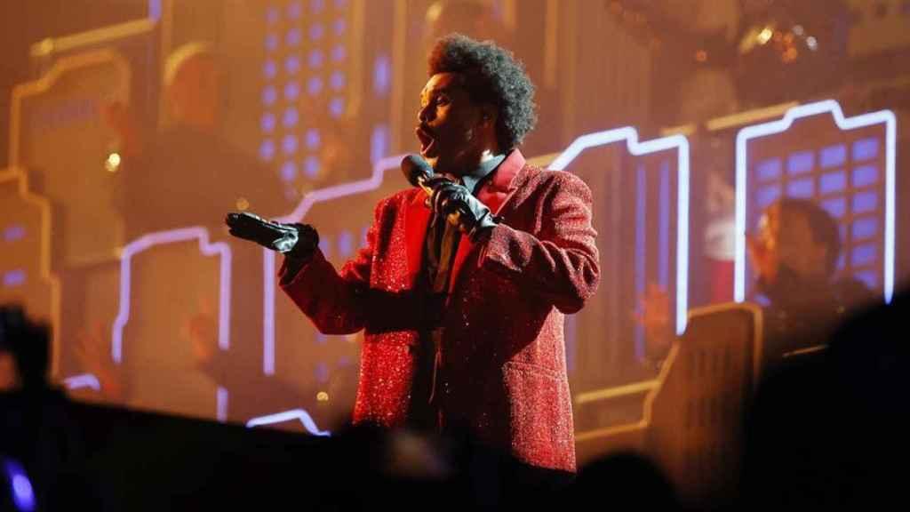 The Weeknd en su actuación.